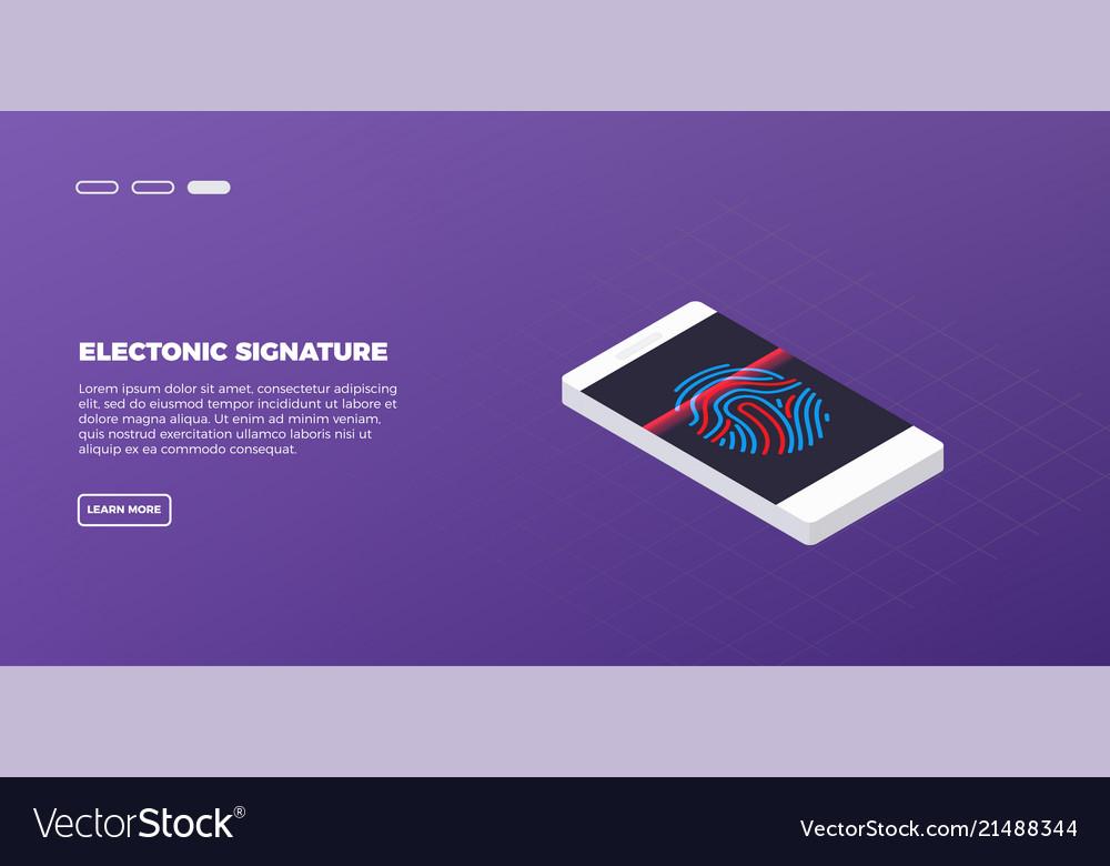 Isometric modern touch smart-phone on modern