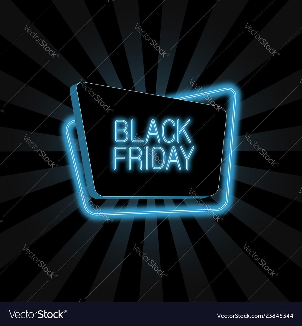Neon banner for black friday