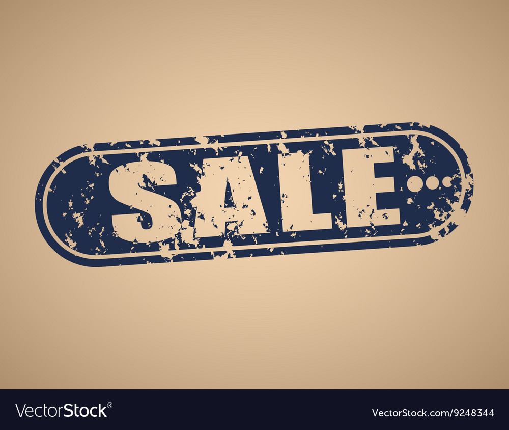 Old rectangular stamp for sale vector image