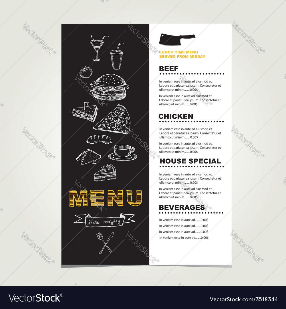 Restaurant cafe menu template design