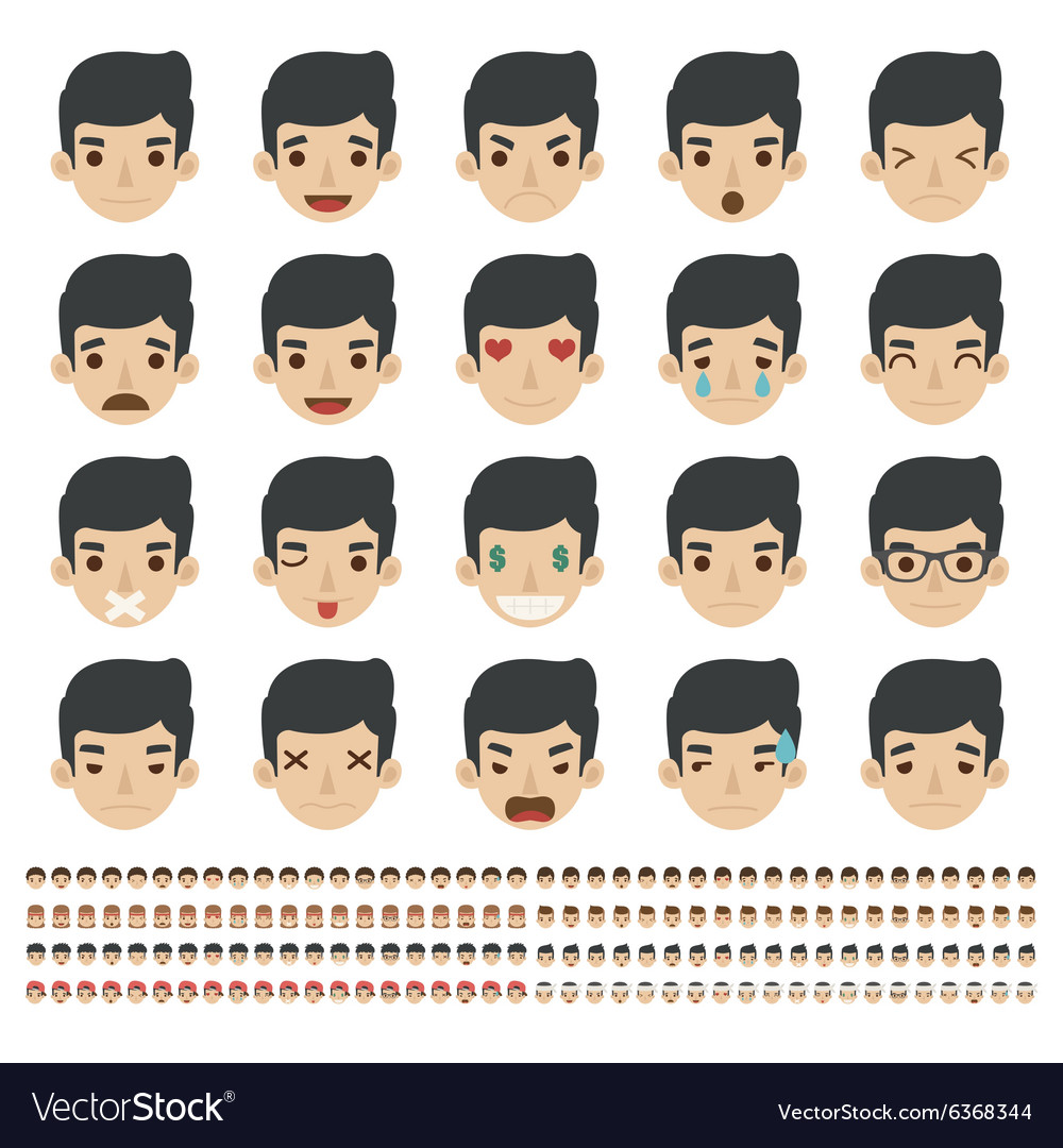 Set of emoticons faces icons eps10 forma