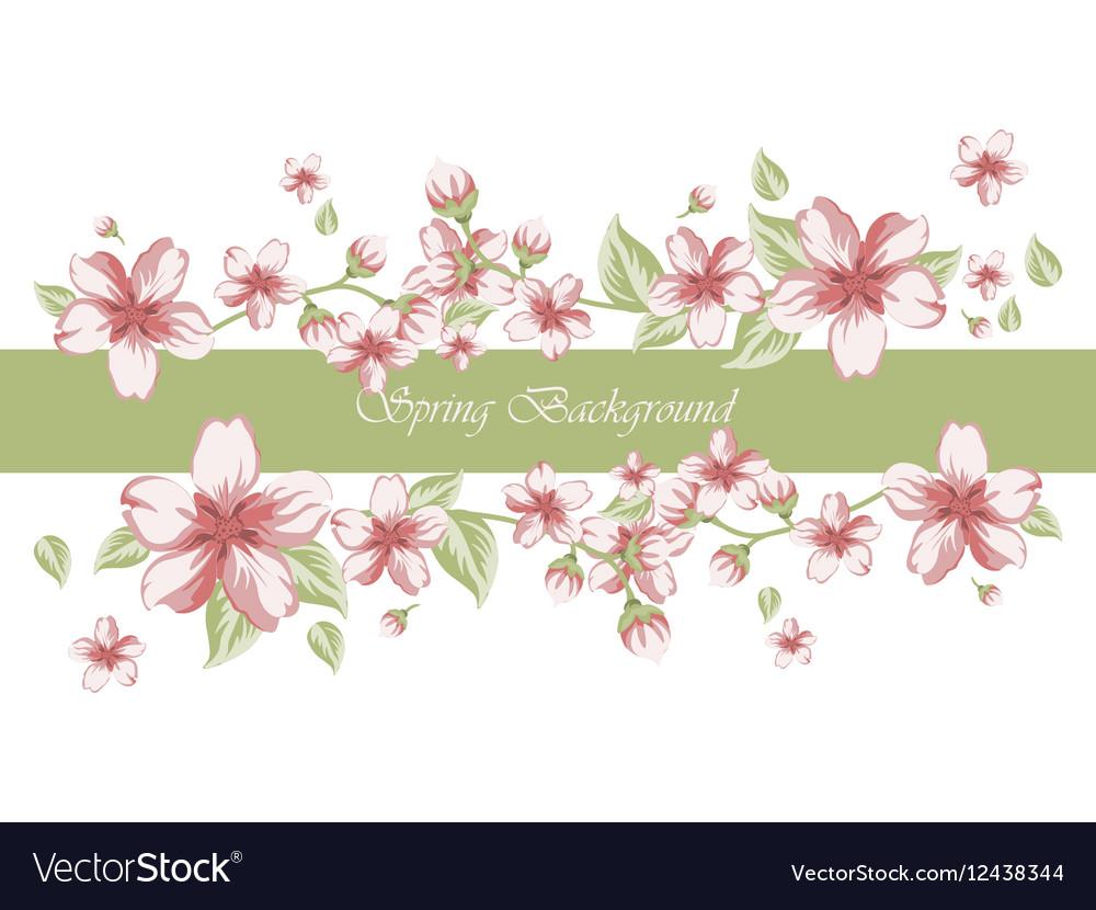 Spring time border card invitation royalty free vector image spring time border card invitation vector image stopboris Choice Image