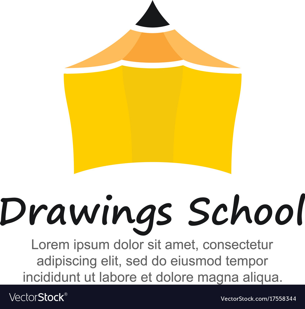 Template logo for drawings school