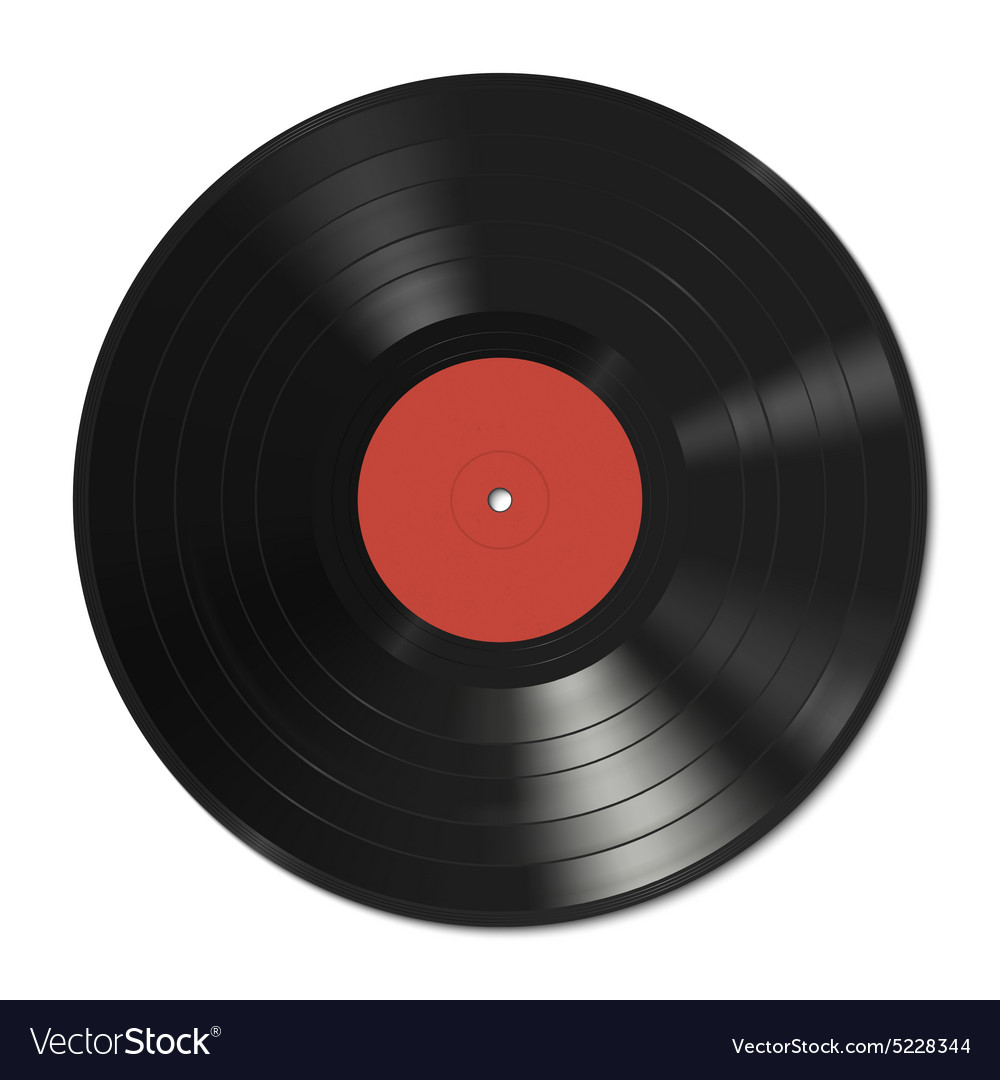 vinyl record template royalty free vector image rh vectorstock com vinyl record vector graphic vinyl record vector graphic
