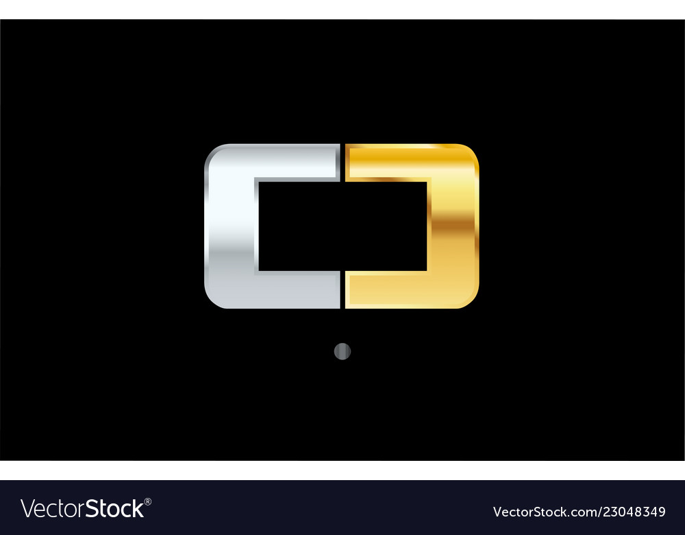 0 number silver gold logo icon design