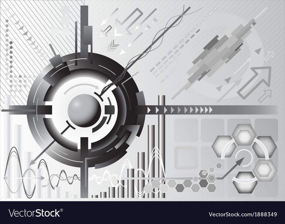 Abstract High Tech Background Royalty Free Vector Image