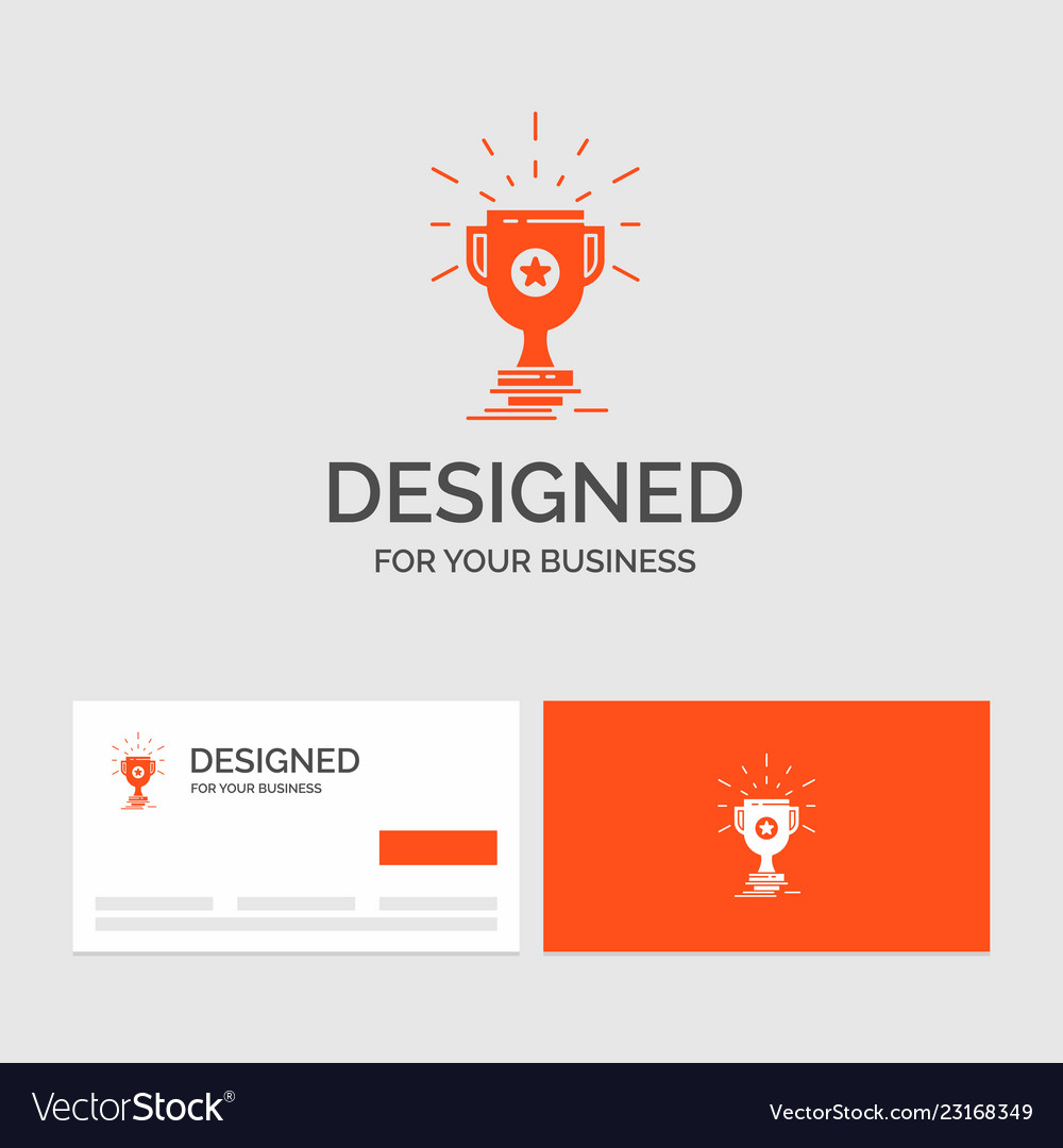 business logo template for award trophy prize win vector image