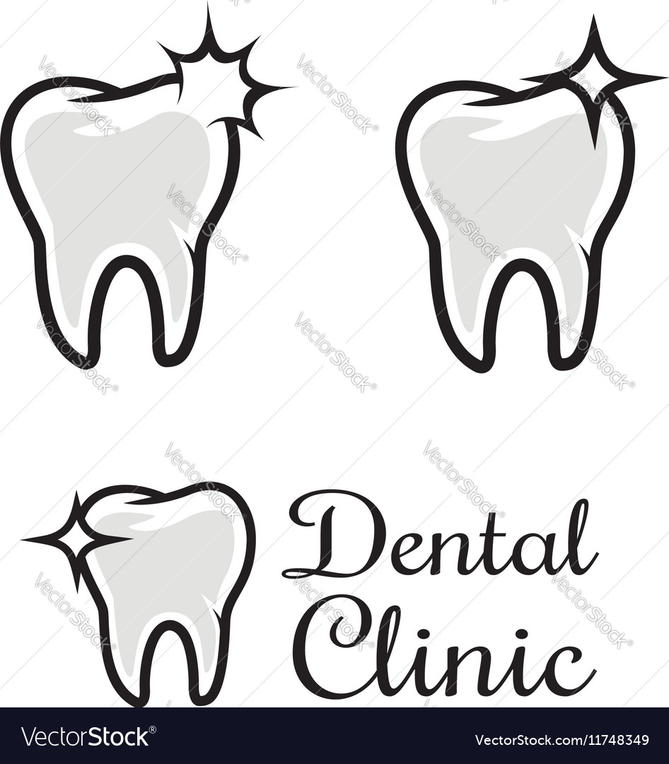Dental clinic logo template Human tooth with