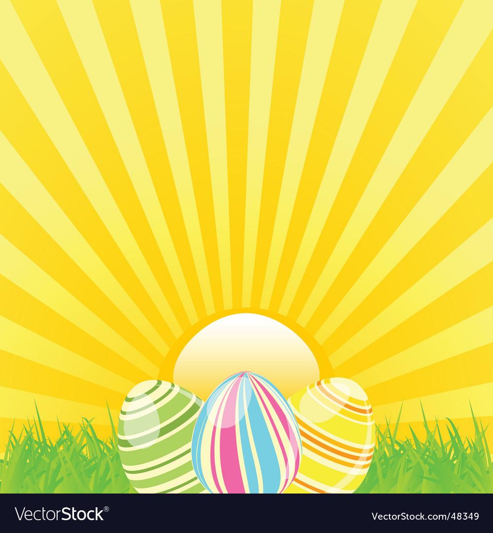 Easter sunshine background vector image
