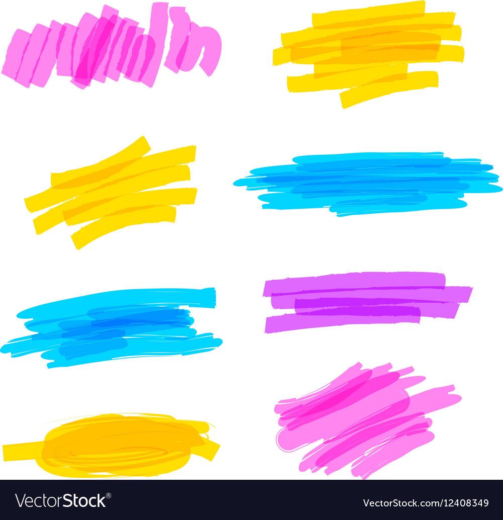 Highlighter marker strokes