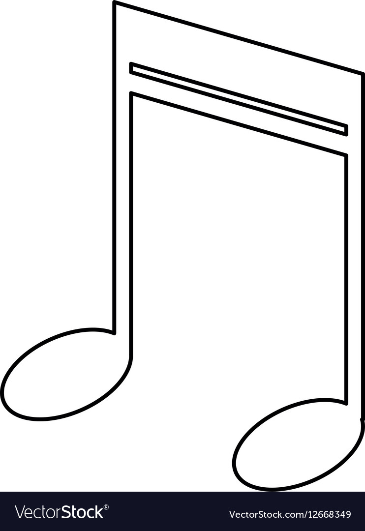 Note music audio sound outline
