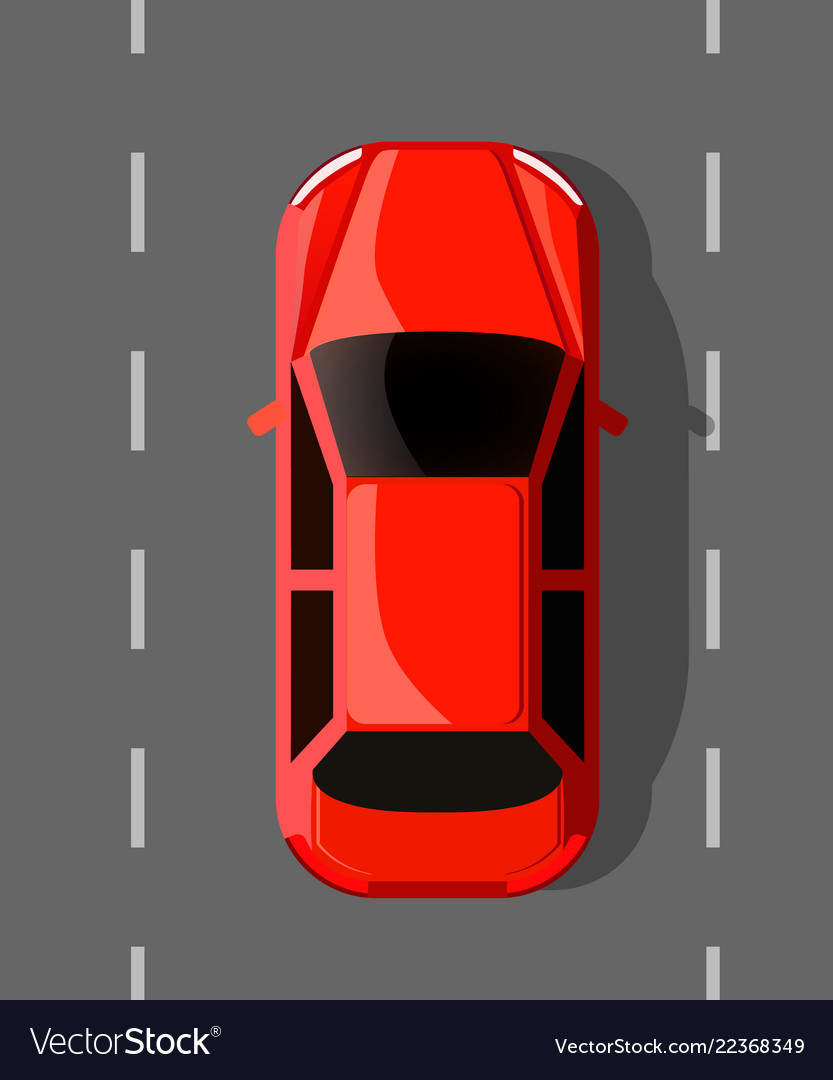 Red hot car on the road travel or race concept
