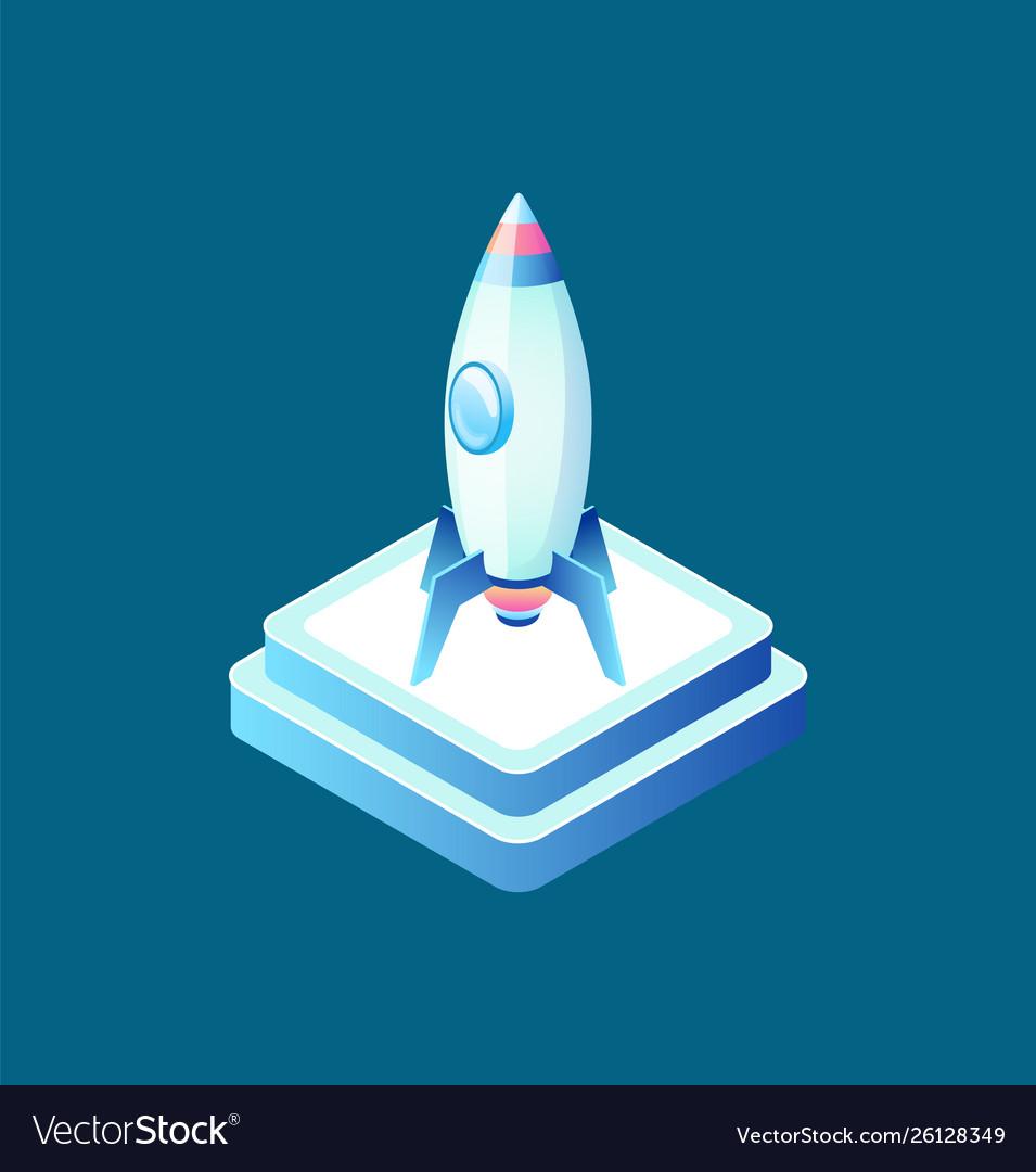Rocket symbol business equipment ship
