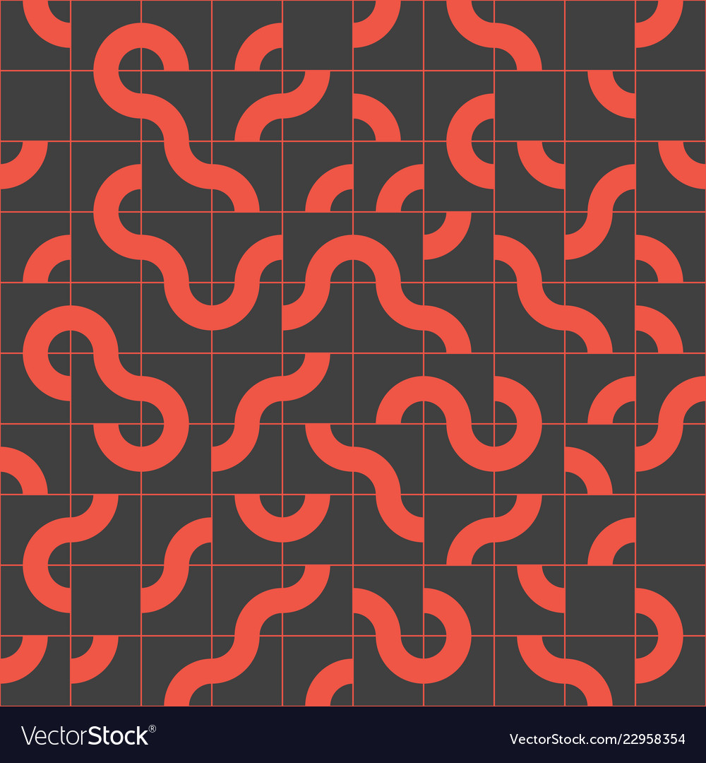Abstract seamless pattern design with tiled