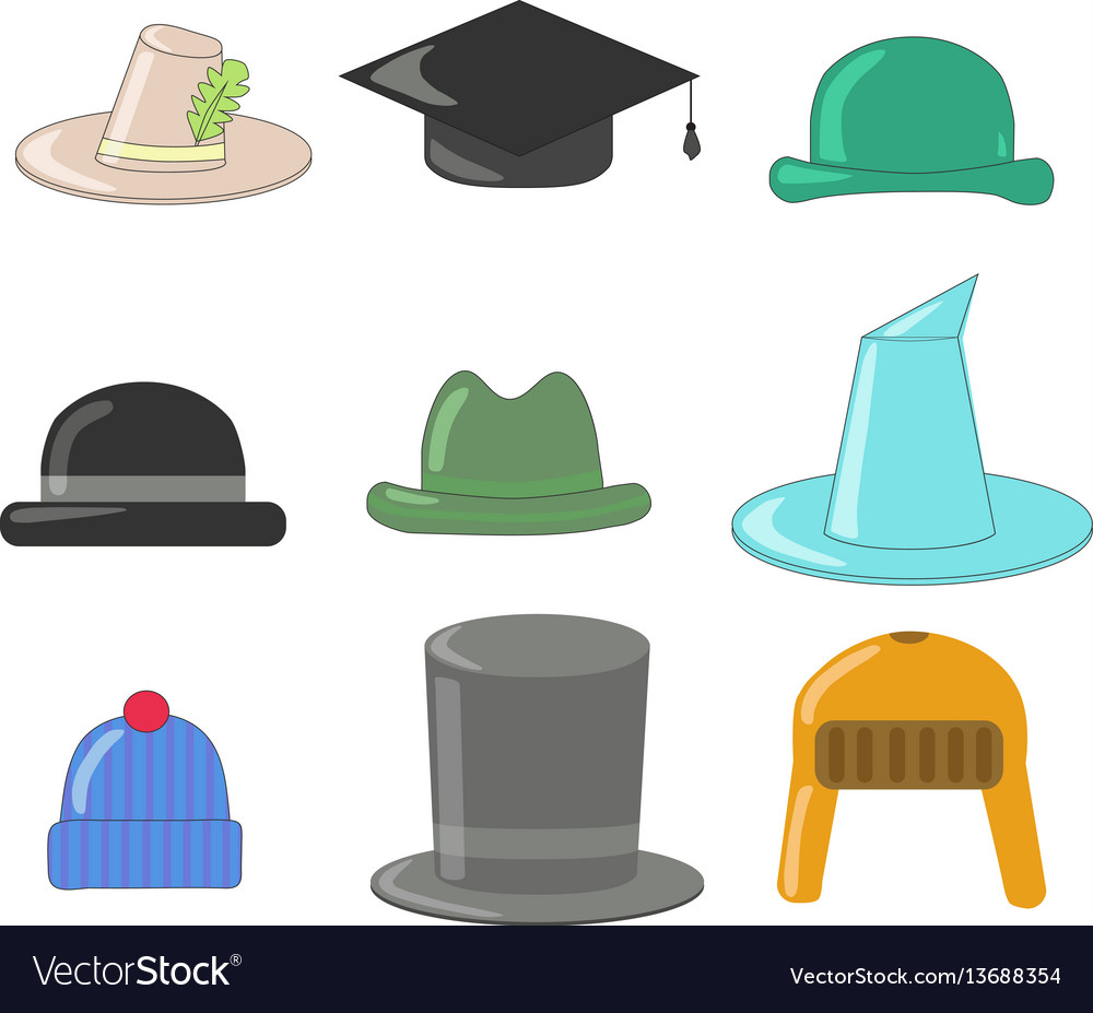 Cartoon hats collection hats and bowlers