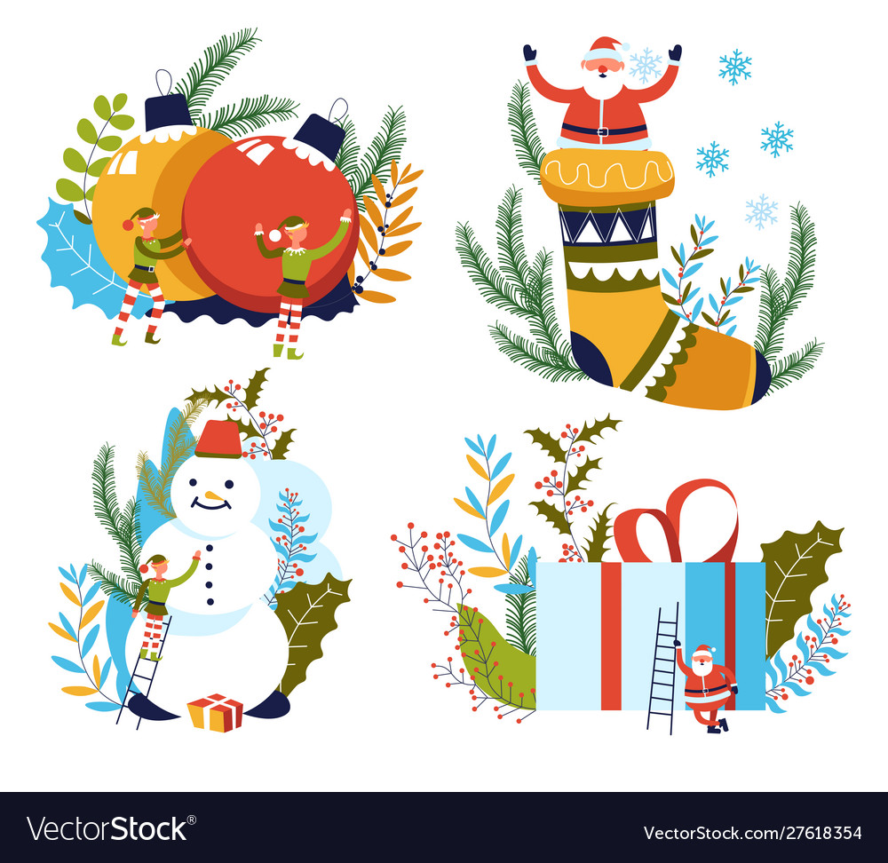 Christmas and new year celebration santa and