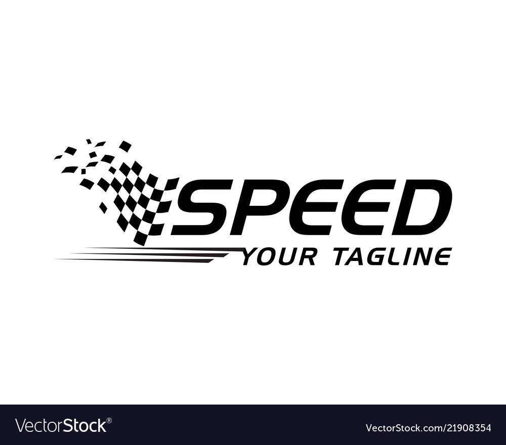 Race flag icon template design...
