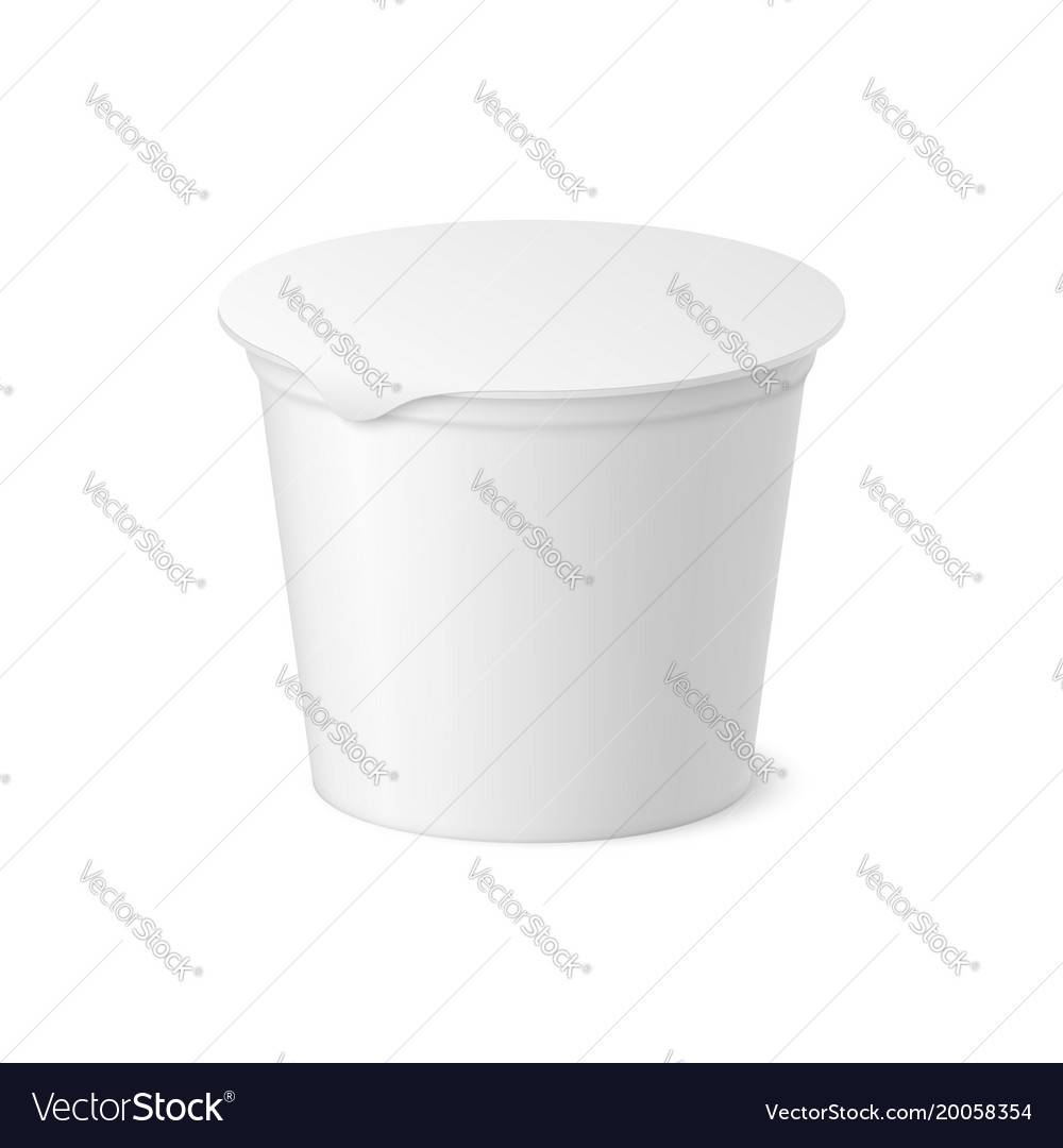 Realistic yogurt ice cream or sour creme package vector image