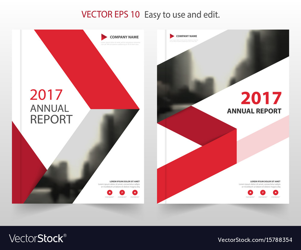 Red arrow abstract annual report brochure