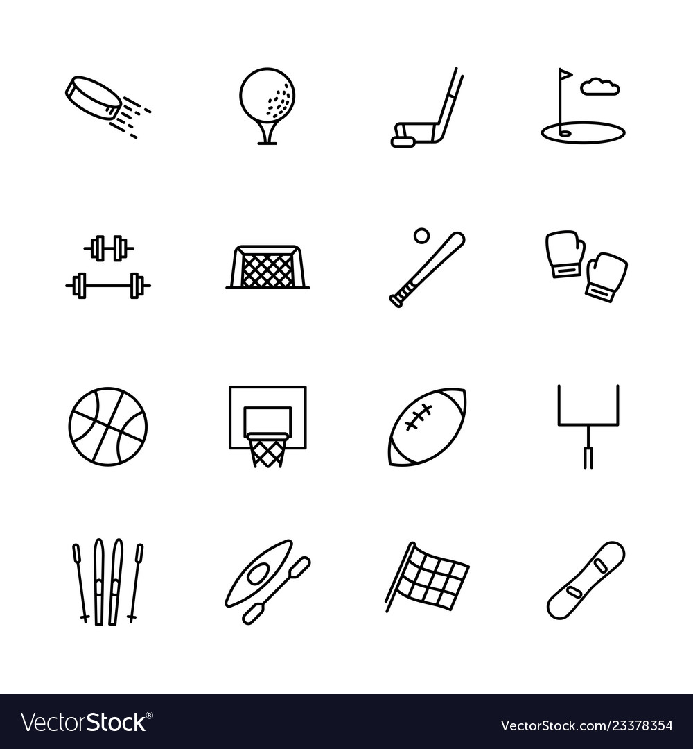 Simple set symbols sport and activity contains