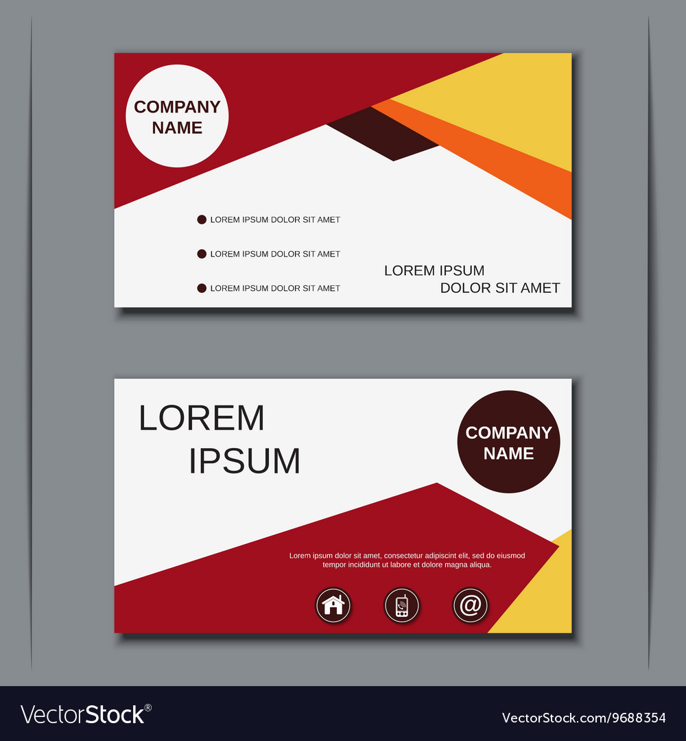 visiting card design template royalty free vector image