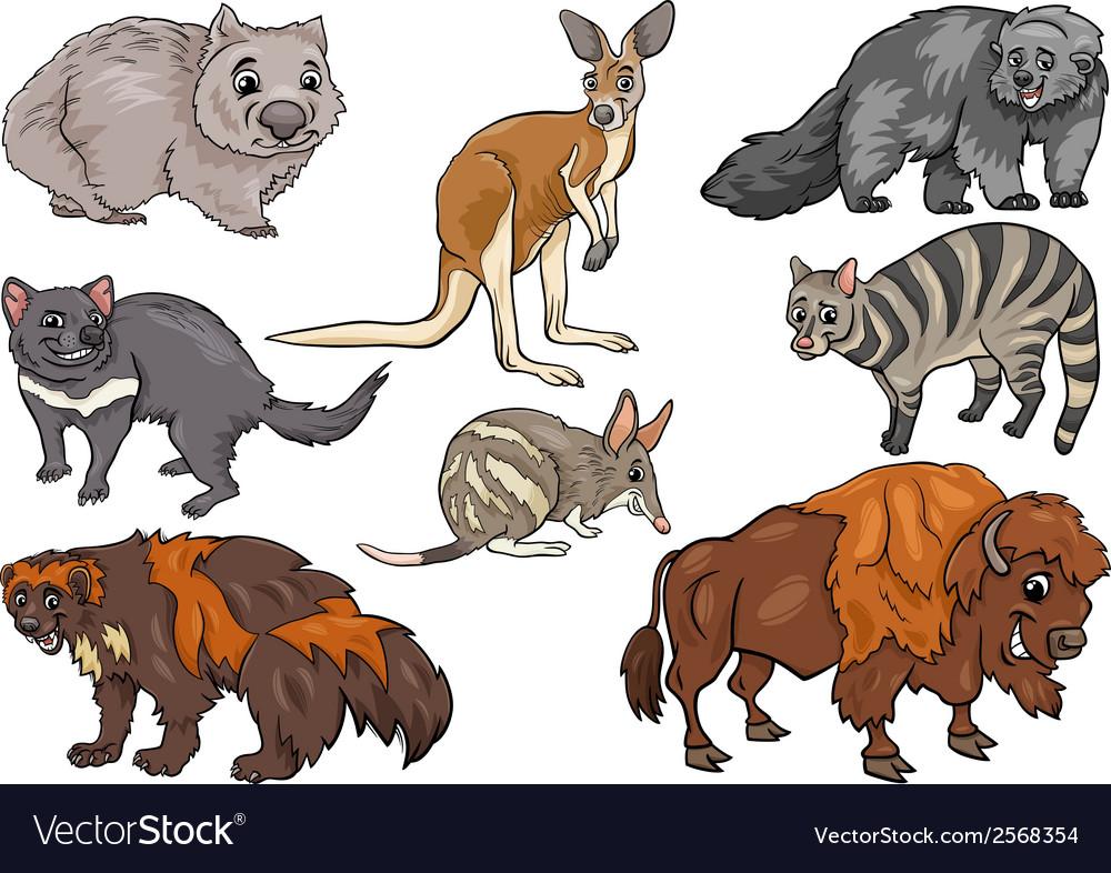 Wild animals set cartoon