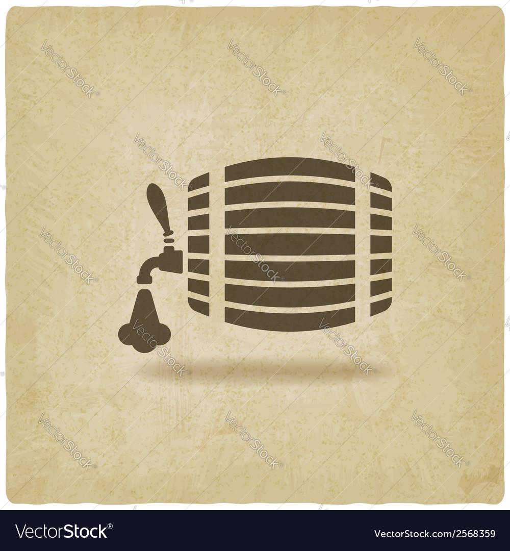 Beer barrel old background