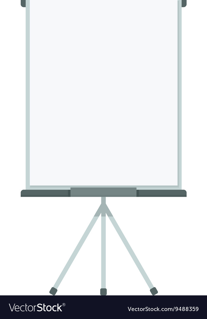 Blank vertical flip chart vector image