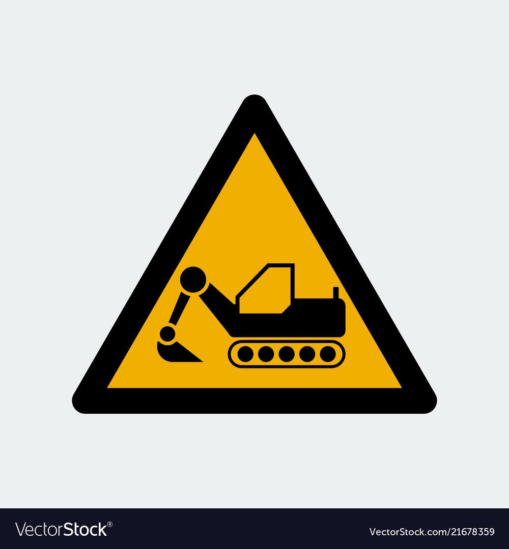 Dozer excavator symbol sign