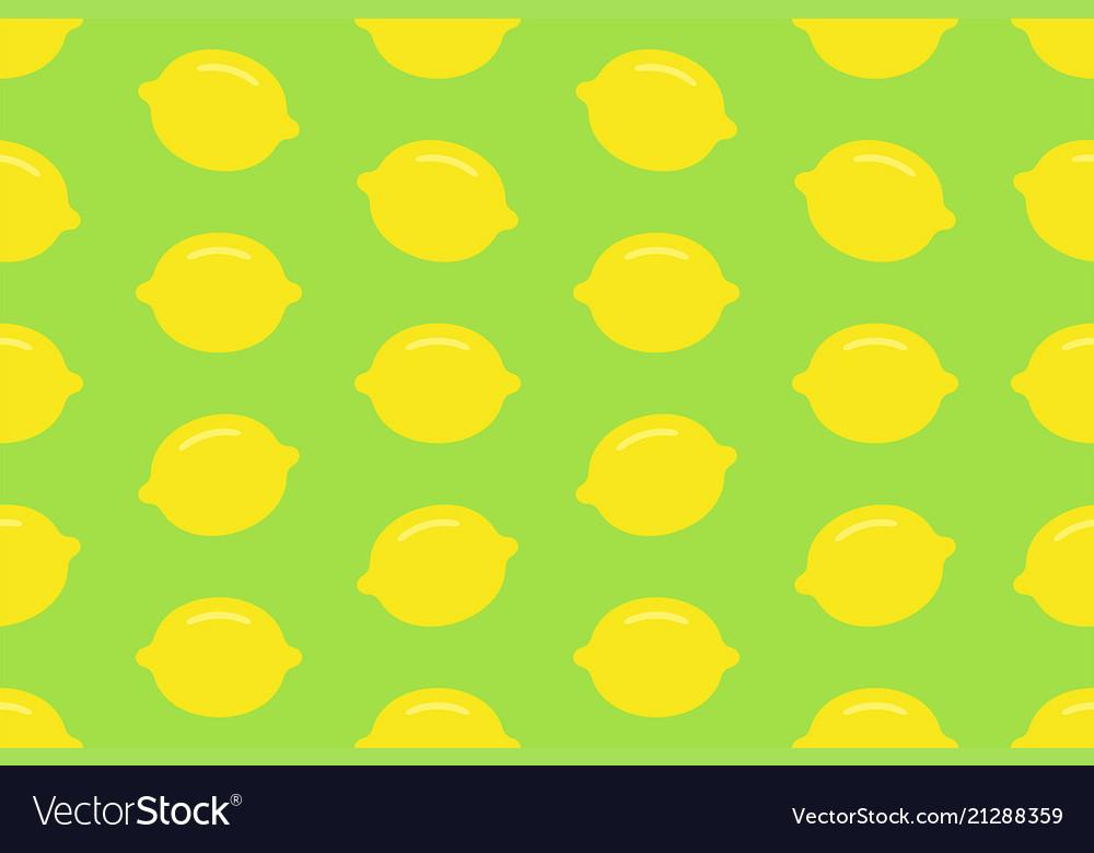 Seamless pattern with lemon