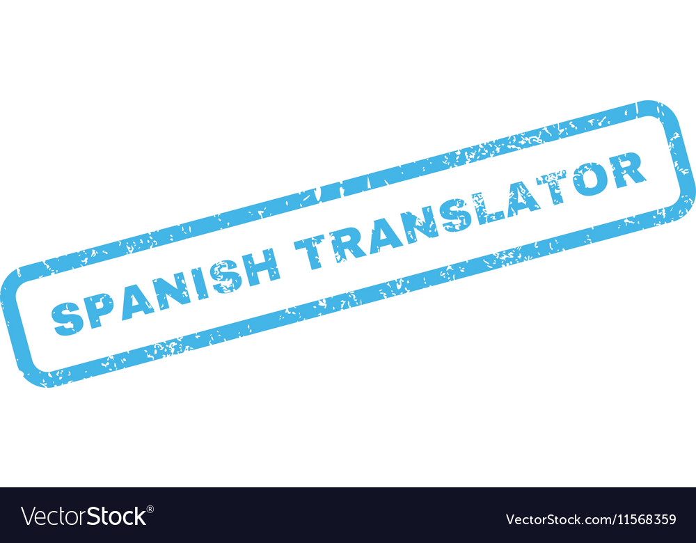 Spanish Translator Rubber Stamp