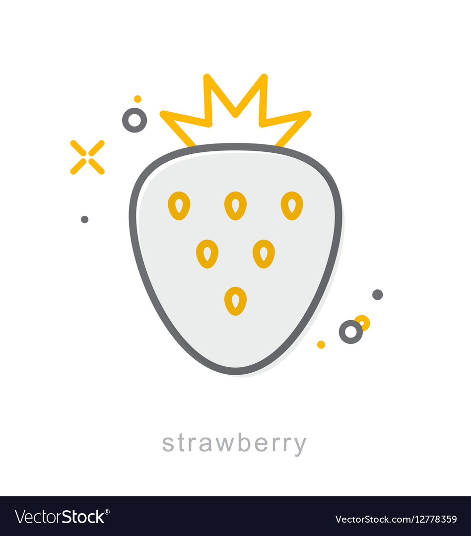 Thin line icons Strawberry