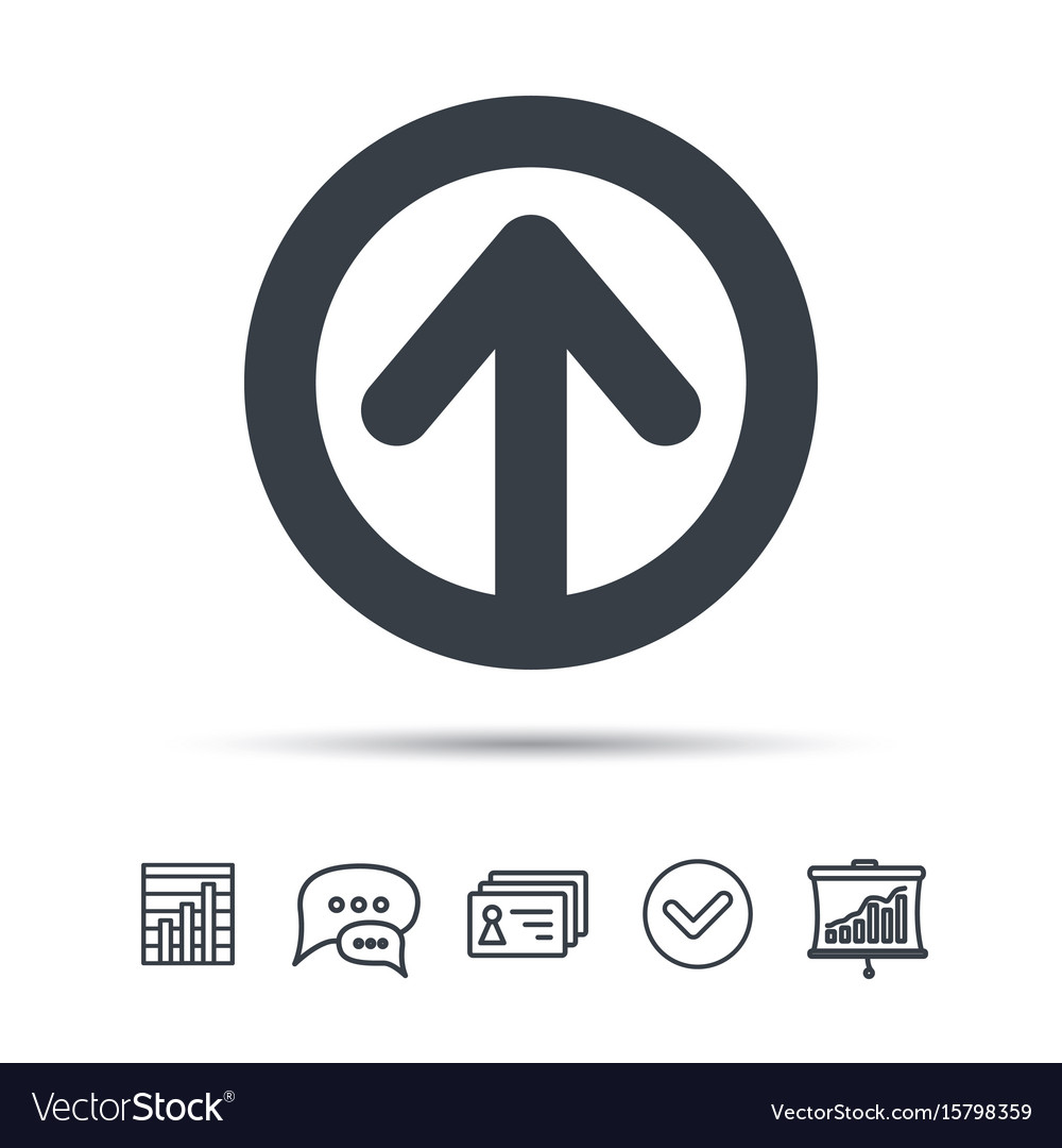Upload icon load internet data sign vector image