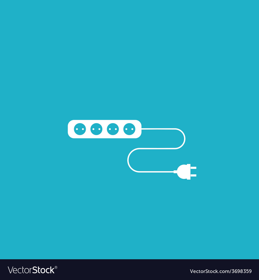 Wire socket and electric plug design Royalty Free Vector