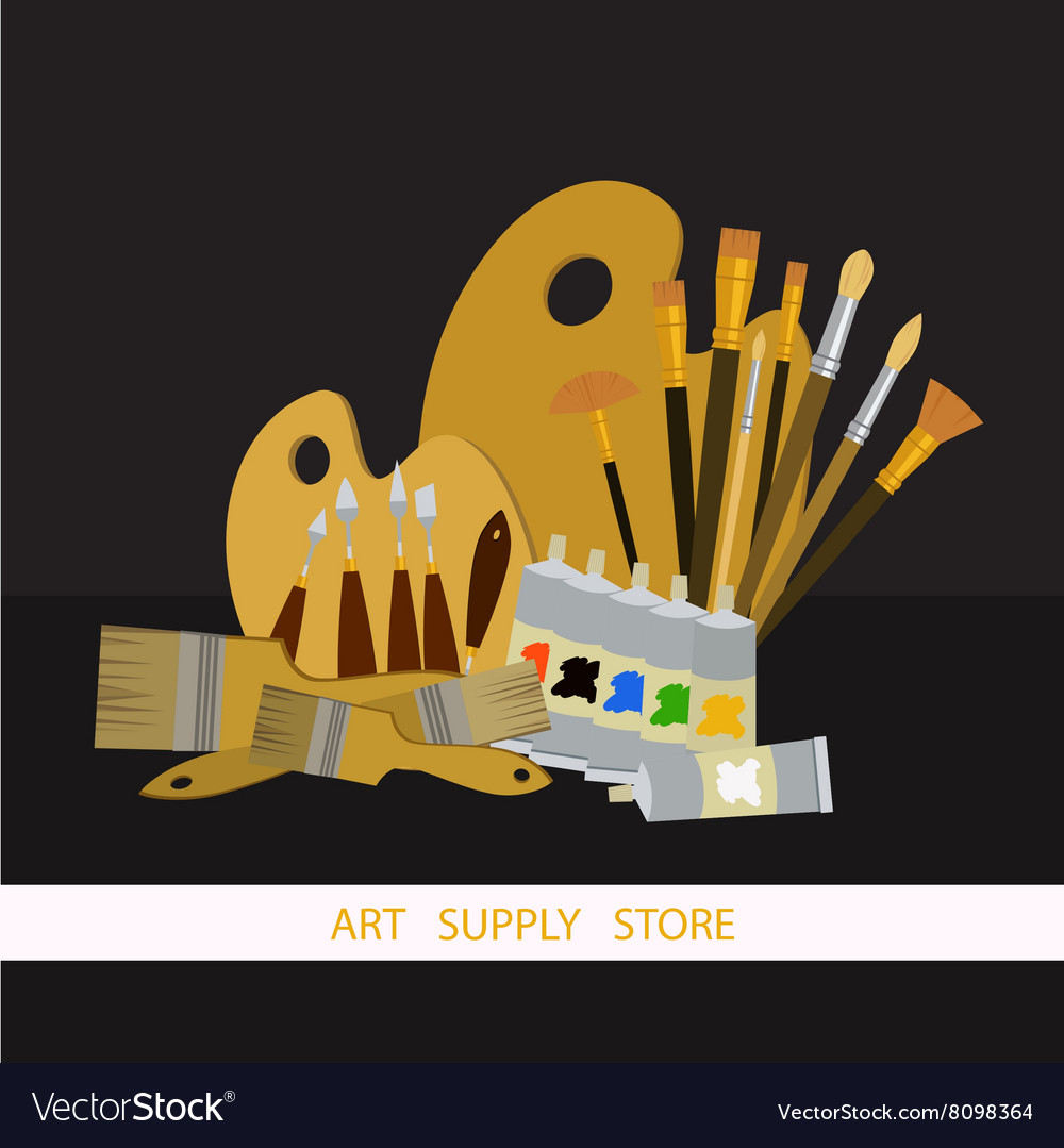 Art supplies and tools pack Oil painting
