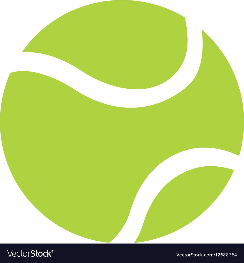 Ball tennis white sport design icon