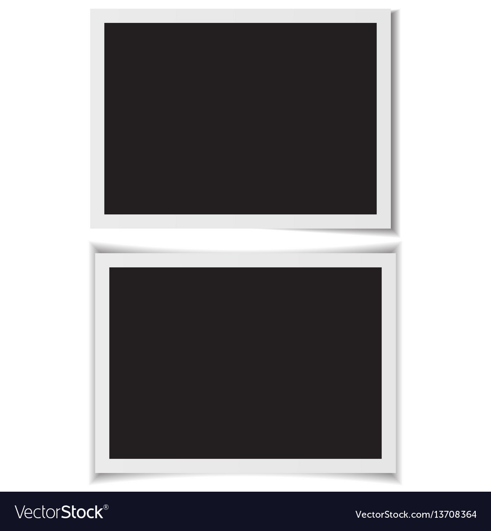 Blank photo frames with shadow on back