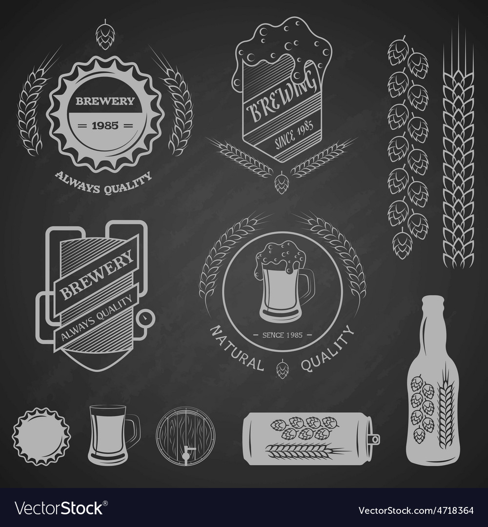 Brewing emblems and design elements
