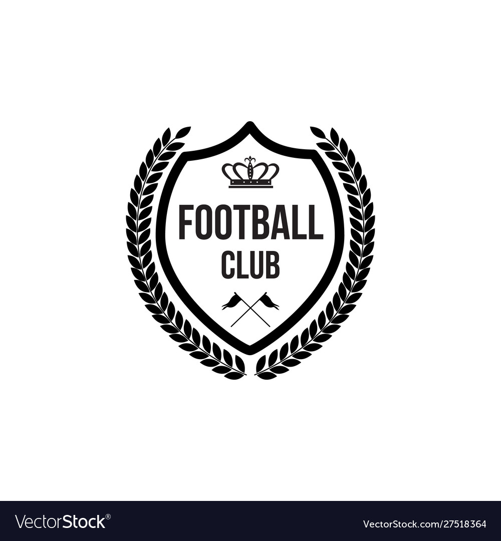 Football club badge icon with crown symbol and