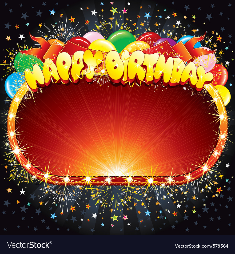 Happy birthday background for your congratulations vector image