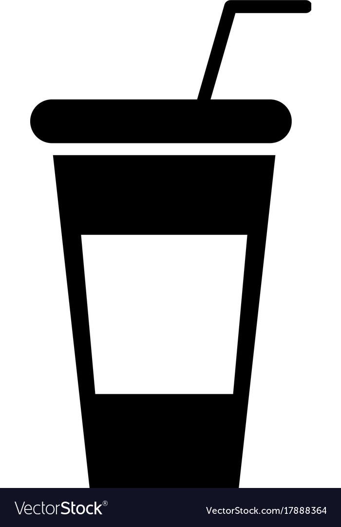 Soda plastic cup icon