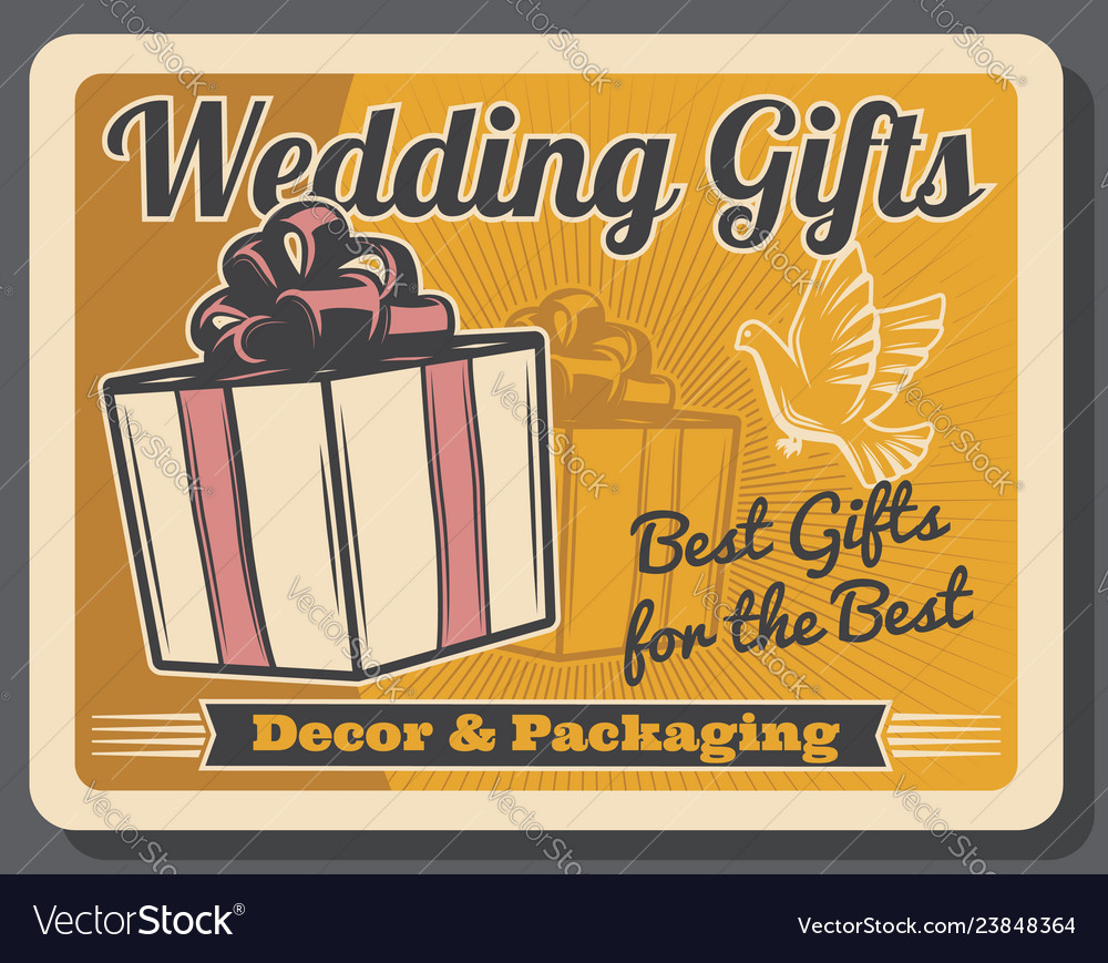 Wedding gifts retro packaging decor and dove
