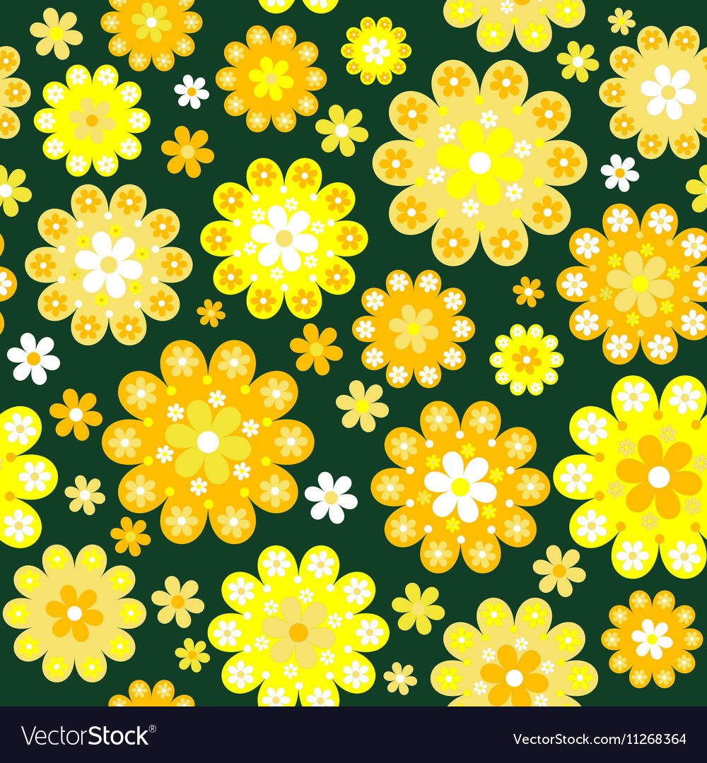 yellow flowers background royalty free vector image vectorstock