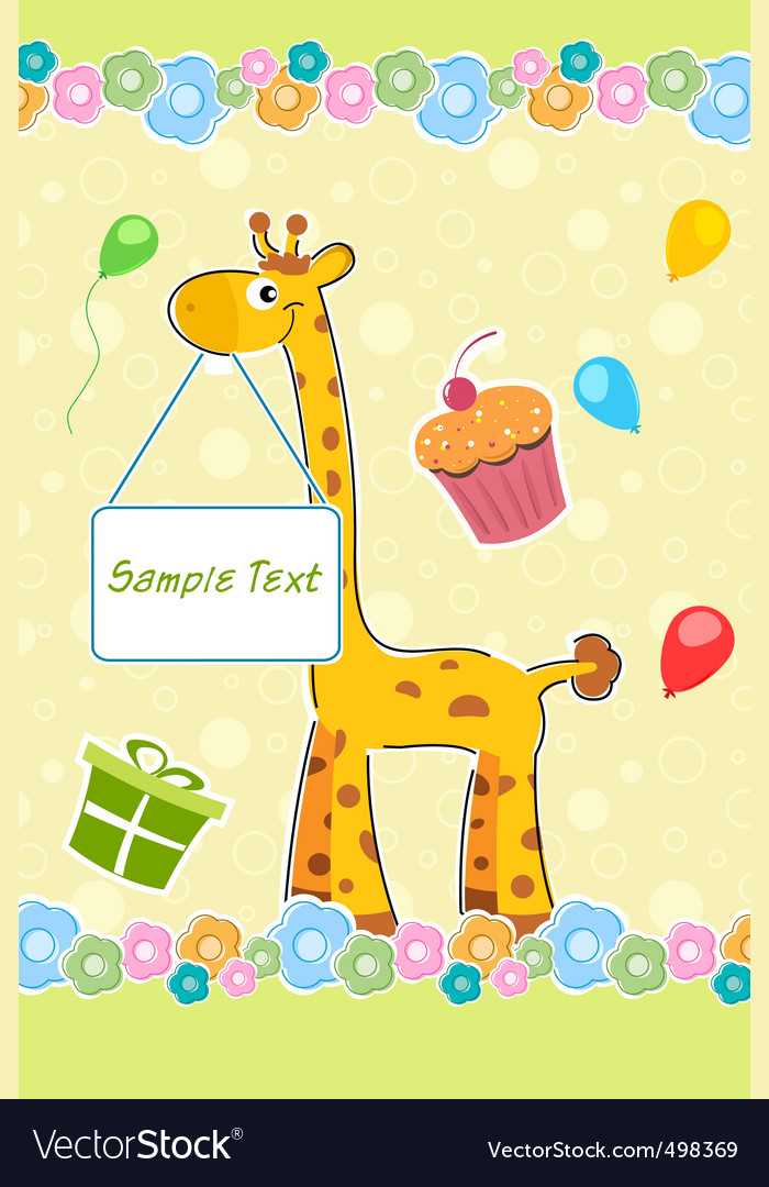 Childs Birthday Card Royalty Free Vector Image