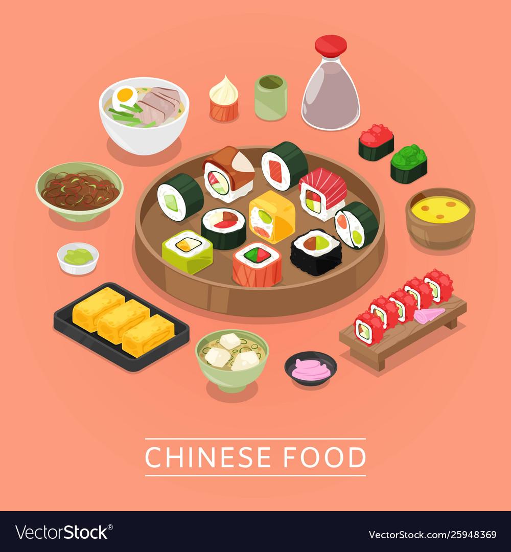 Chinese sushi food box plate chopsticks