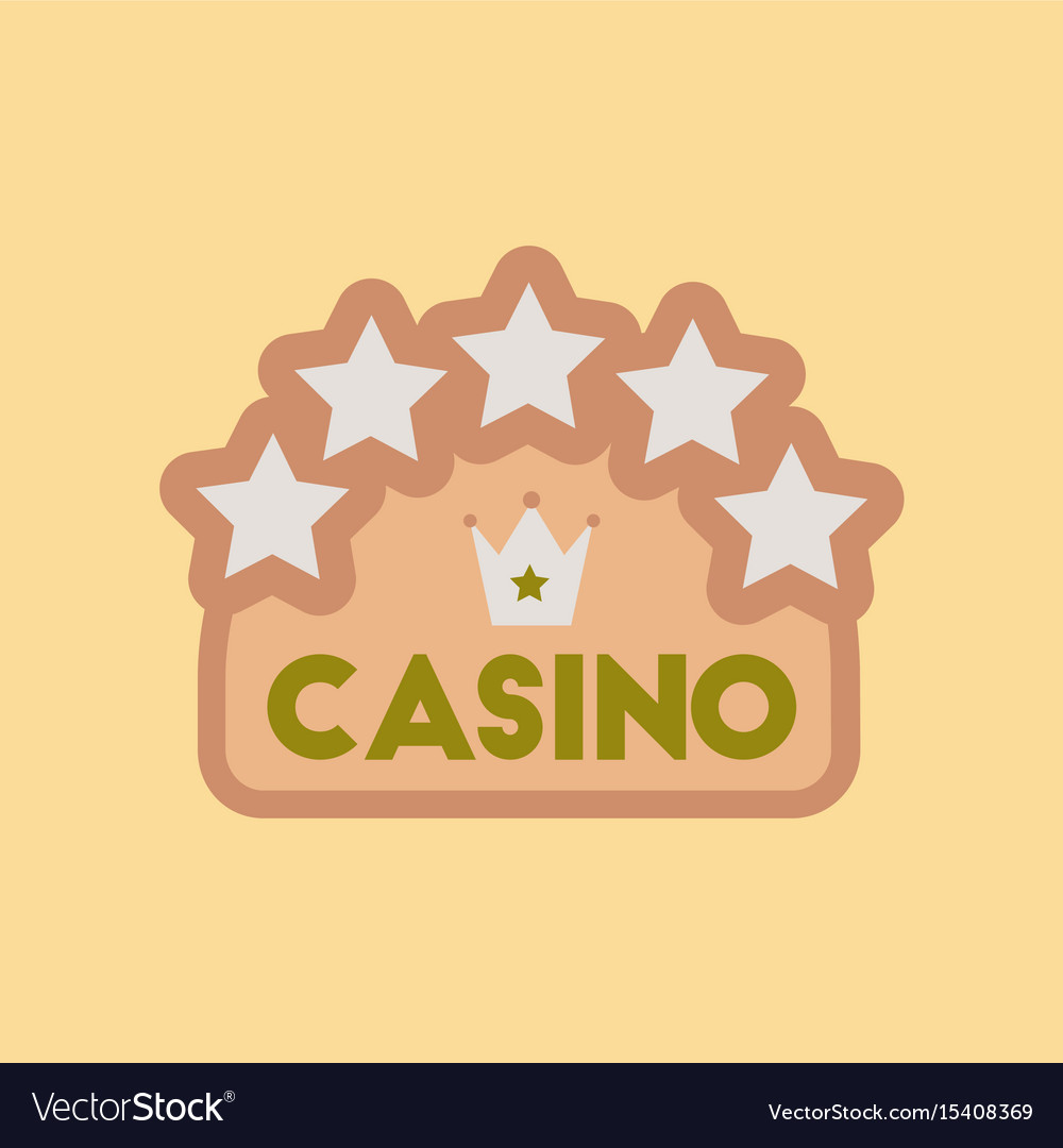 Flat icon stylish background poker casino sign