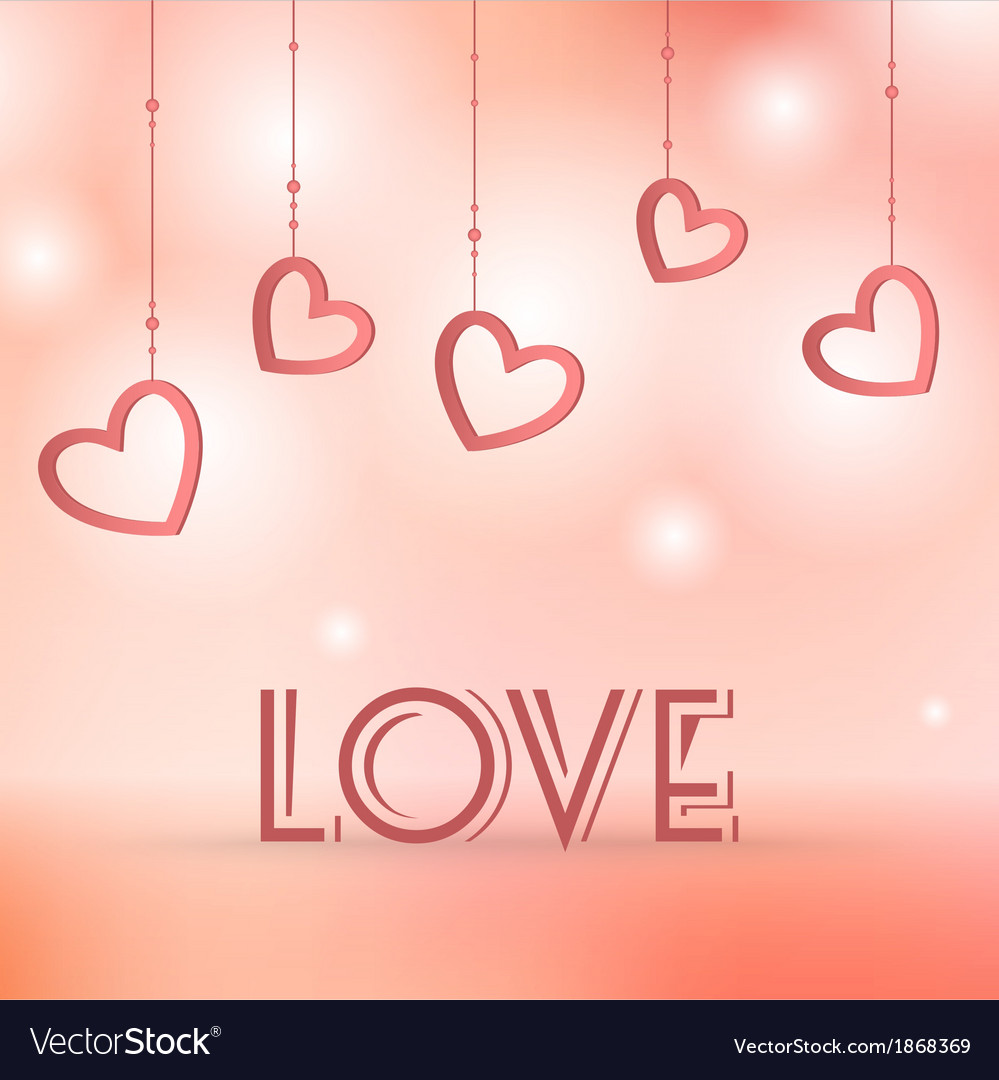 Love sign with hearts decorations