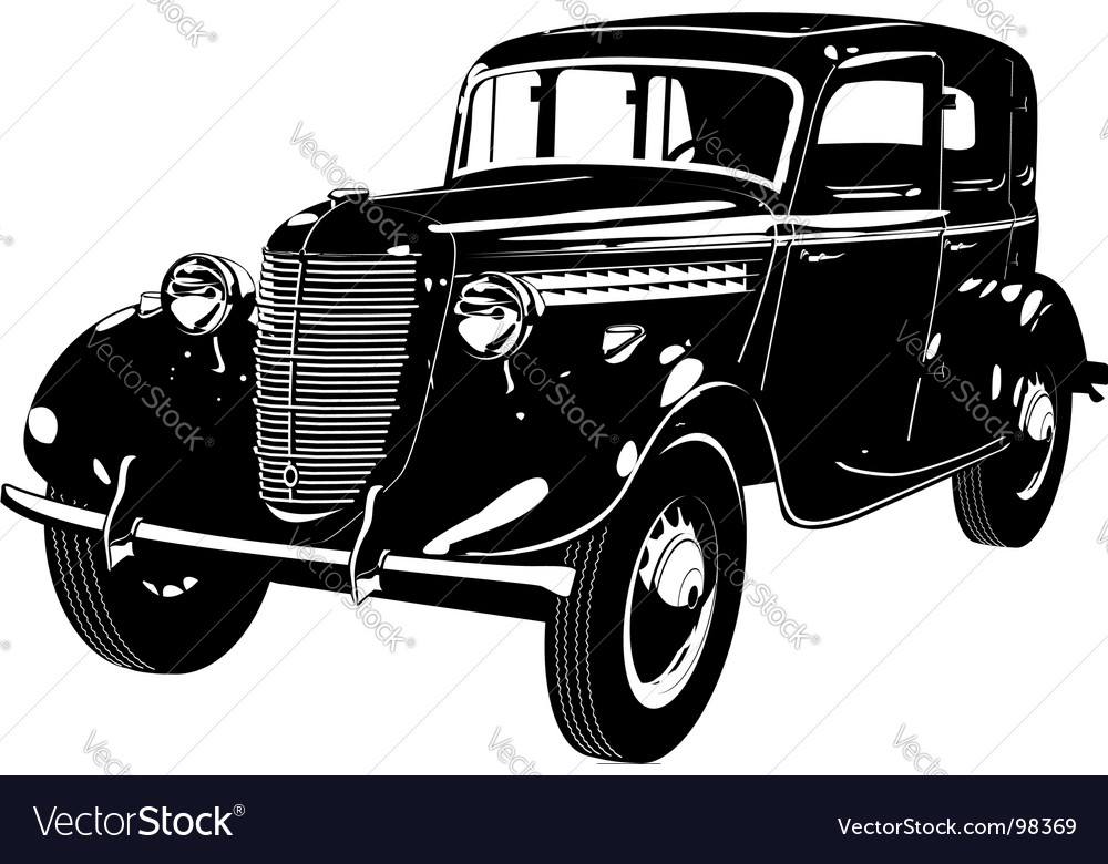 Retro Car Silhouette Royalty Free Vector Imagerhvectorstock: Old Fashion Car Silhouette At Cicentre.net