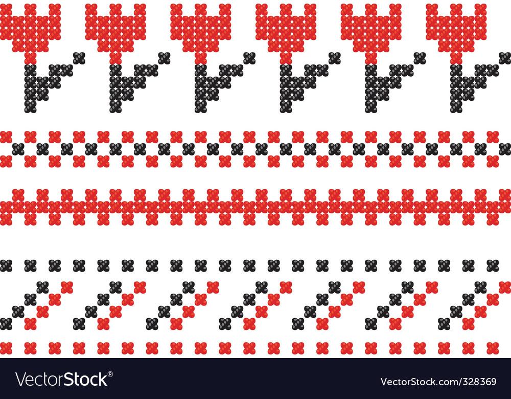 Slavic embroidery vector image