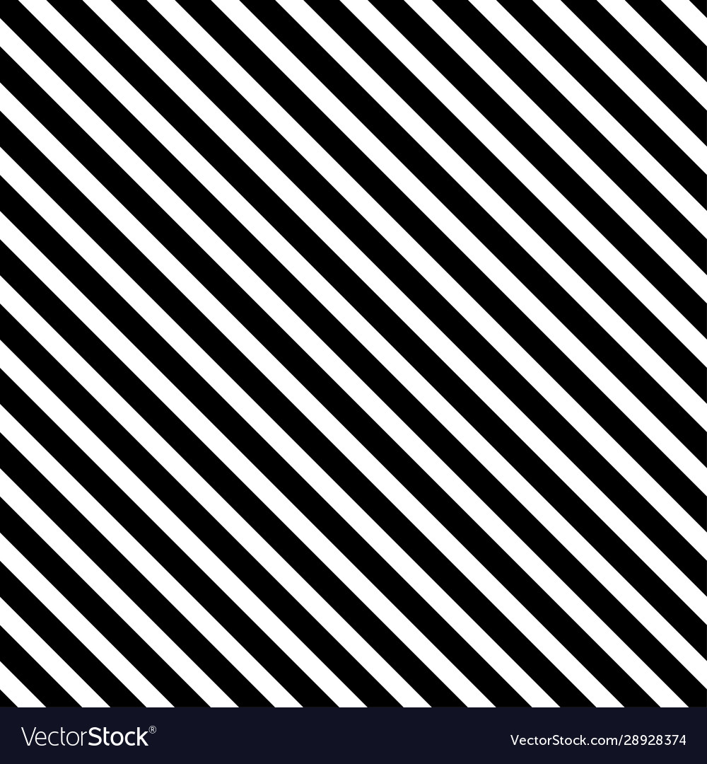 Black and white diagonal stripes background Vector Image